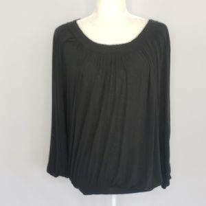 Free People black peasant top women's size Small